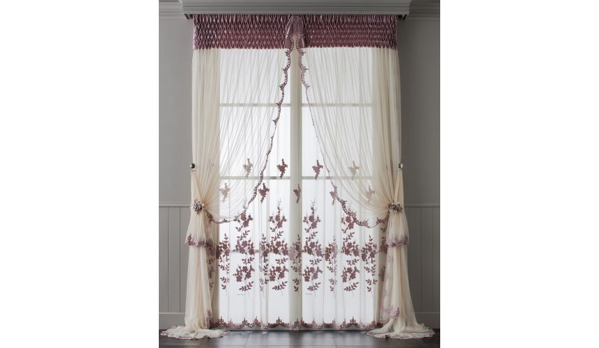 Custom Window Treatments Hand made draperies from our Masterpiece Collection. 73