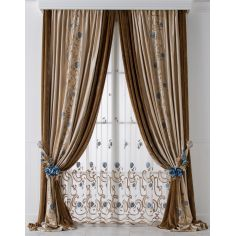 Hand made draperies from our Masterpiece Collection. 76