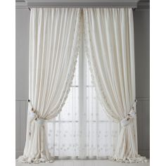 Hand made draperies from our Masterpiece Collection. 77