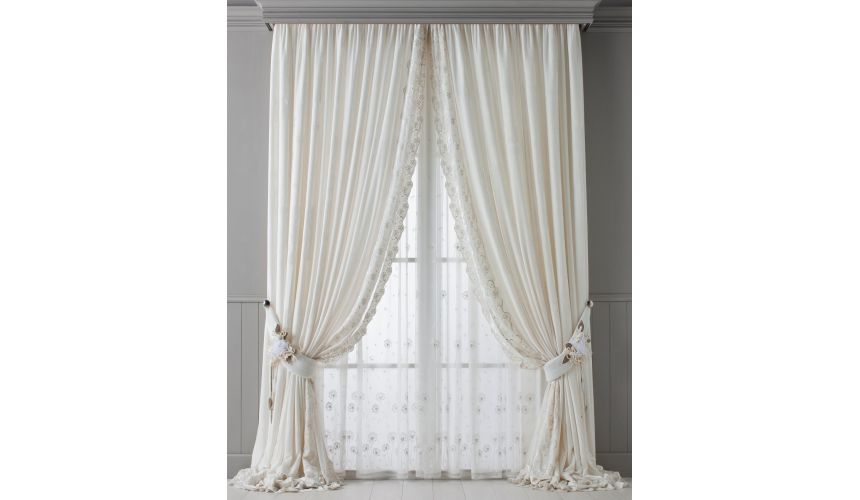 Custom Window Treatments Hand made draperies from our Masterpiece Collection. 77
