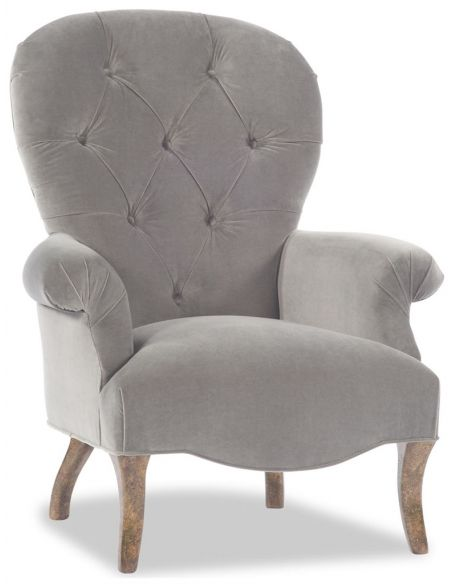 Modern Furniture Grey Tufted Accent Chair