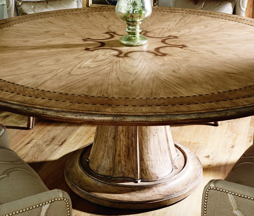 Stunning Round Dining Table Light Color Top