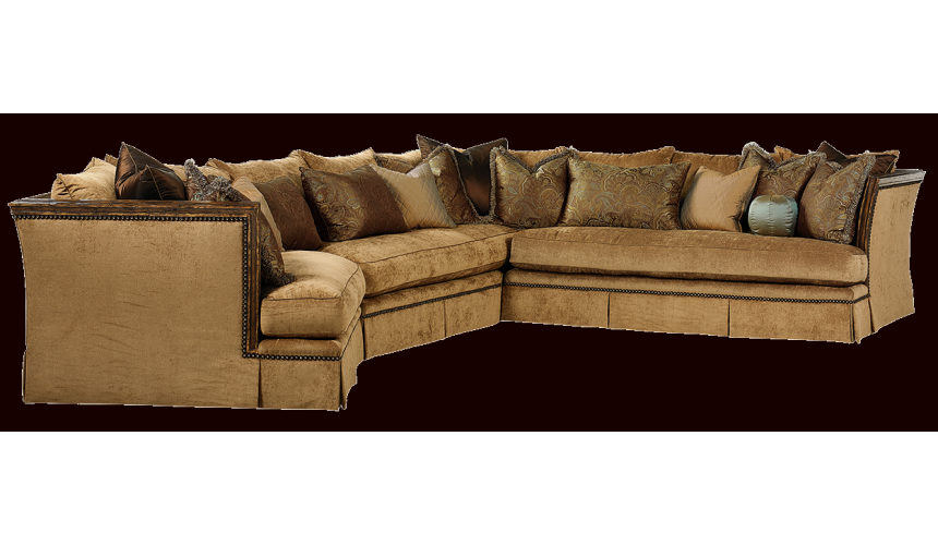 SECTIONALS - Leather & High End Upholstered Furniture Beautiful luxury sectional sofa