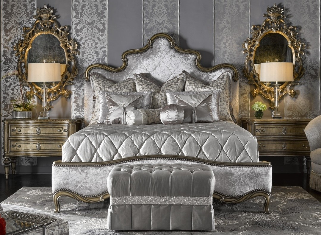 Fancy French Royal Grand Orleans Master Bed