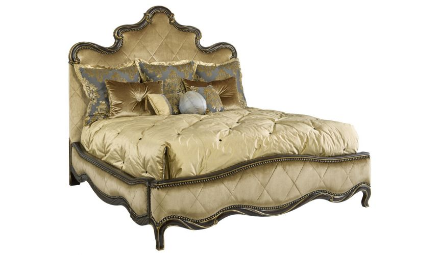 BEDS - Queen, King & California King Sizes Gold Fancy French Royal Grand Orleans master bed