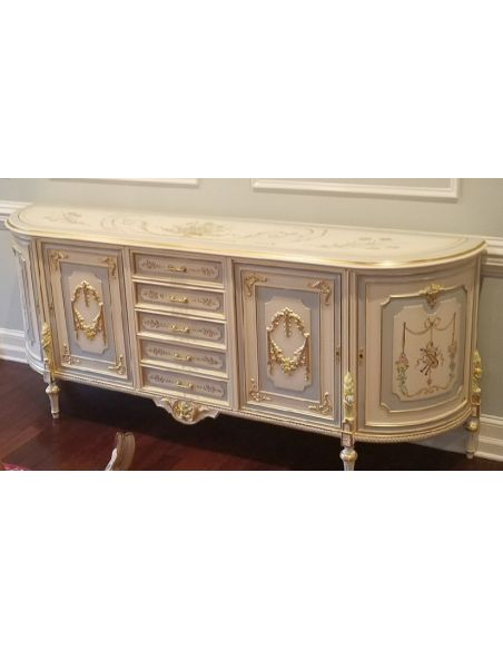 Breakfronts & China Cabinets 11 Best of European made furniture. Venetian style Credenza.