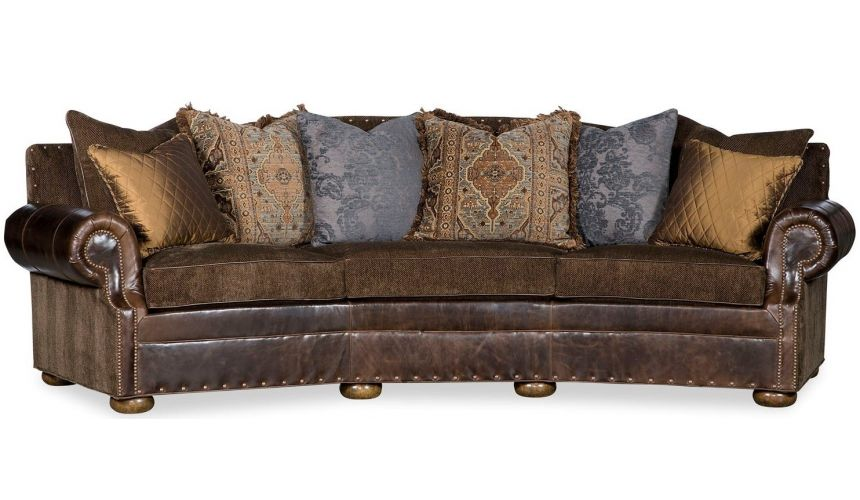 SOFA, COUCH & LOVESEAT Southwest Style Curved Sofa