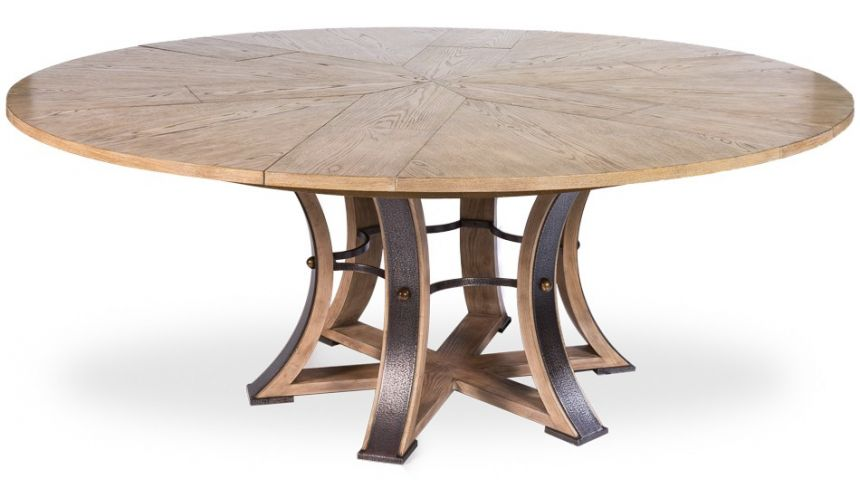 Large Round Table With Self Storing Leaves, Very Large Round Dining Table