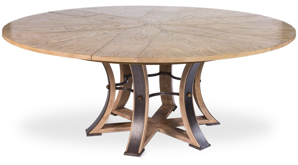 Dining Tables Large Round Table With Self Storing Leaves