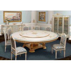 Venetian hand painted round dining set.