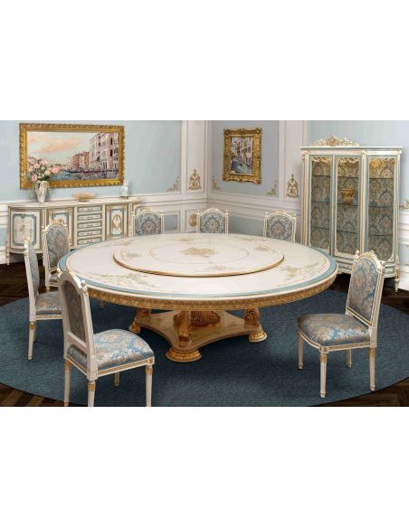 Dining Tables Venetian hand painted round dining set.