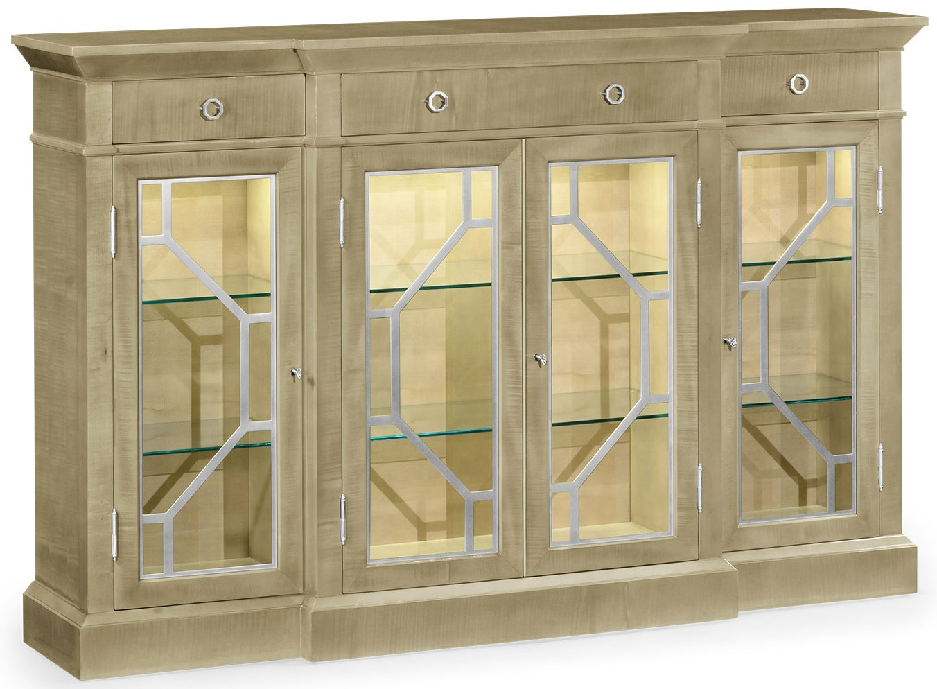 Breakfronts U0026 China Cabinets Modern Light Color Breakfront Display Cabinet