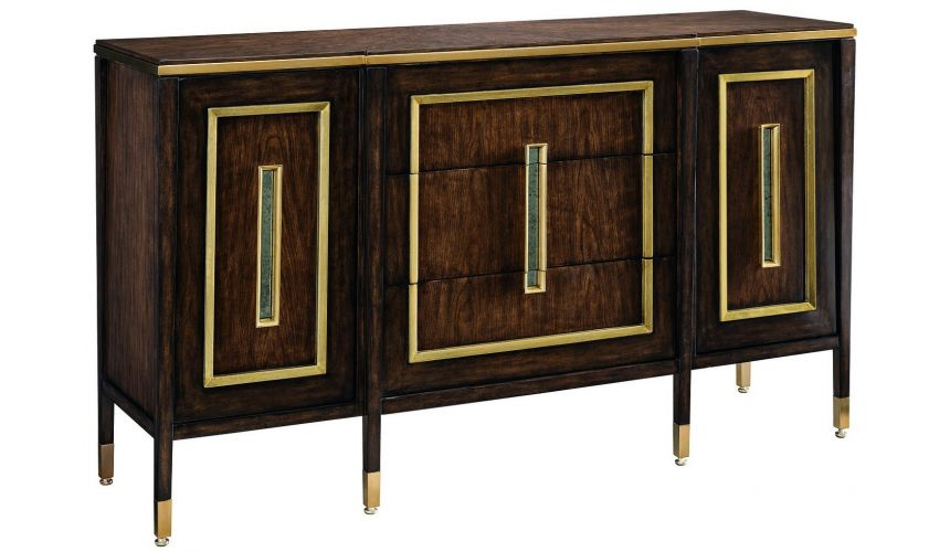 Chest of Drawers Art Deco styled dresser in ebony and cherry wood