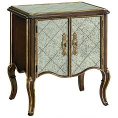 Antique mirror high style night stand