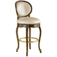 Classic style swivel bar stool