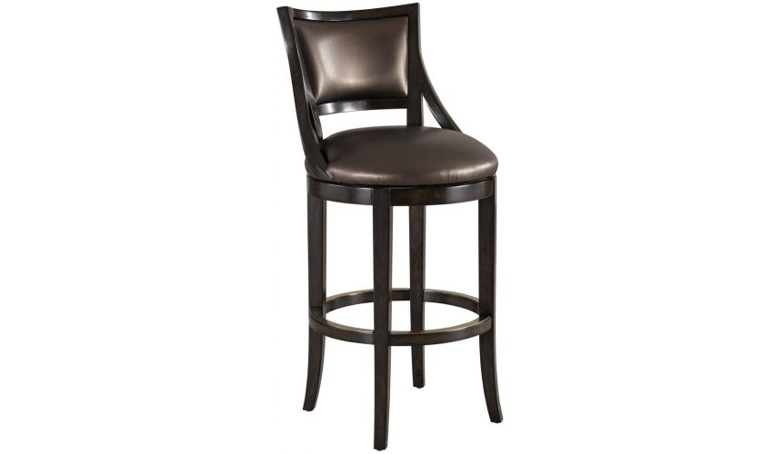 Unique Counter & Bar Stools Modern styled curved back bar stool