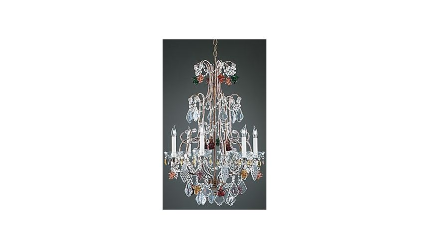 Lighting Crystal Grapevine Bronze Chandelier