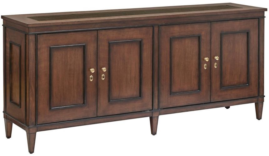 Breakfronts & China Cabinets Stylish dining room breakfront with a pleasant understated elegance