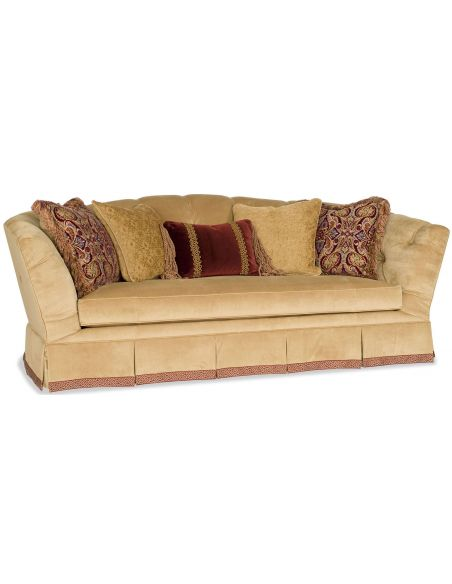 Luxury Leather & Upholstered Furniture Soft and luxurious beige sofa