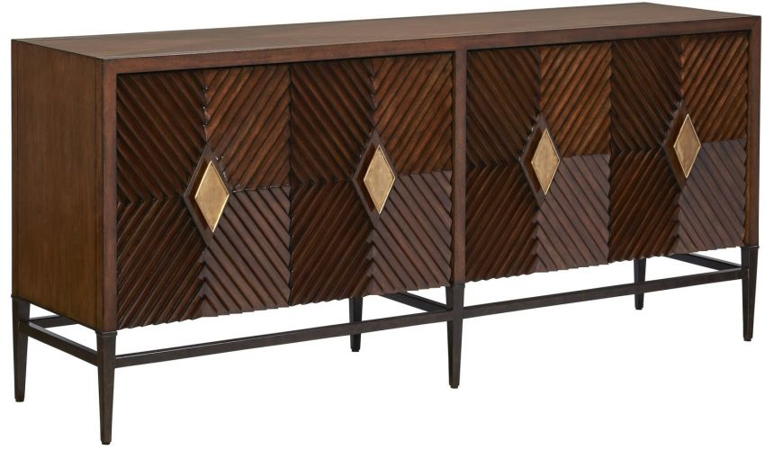 Breakfronts & China Cabinets Stylish TV console cabinet with a pleasant understated elegance