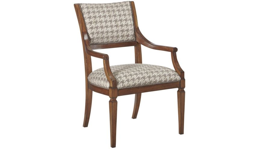 Dining Chairs Exquisite Houndstooth Patterned Head Dining Chair from our modern Dakota collection DCA48