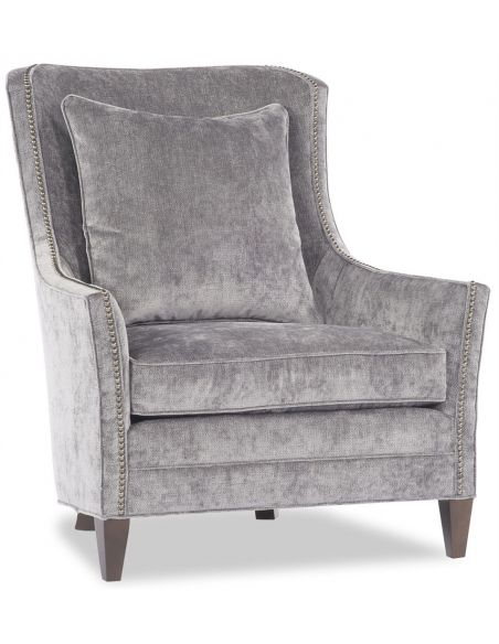 Luxury Leather & Upholstered Furniture Grey Microfiber Chair