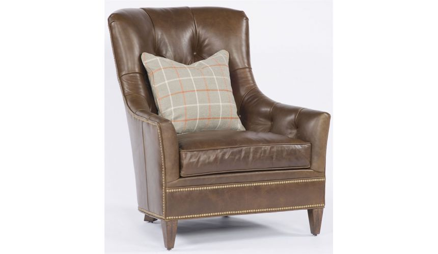 Modern Furniture Light Brown Leather Chair