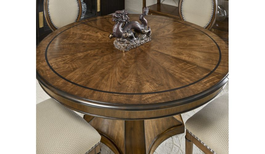Dining Tables Round to oval dining table with a pleasant understated elegance