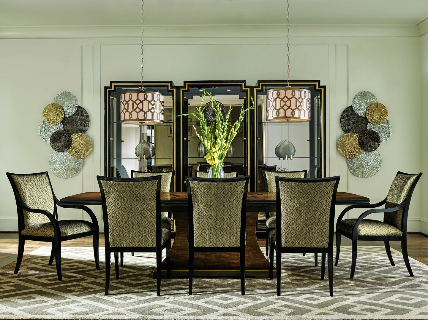 Dining Tables High Style Transitional Dining Table