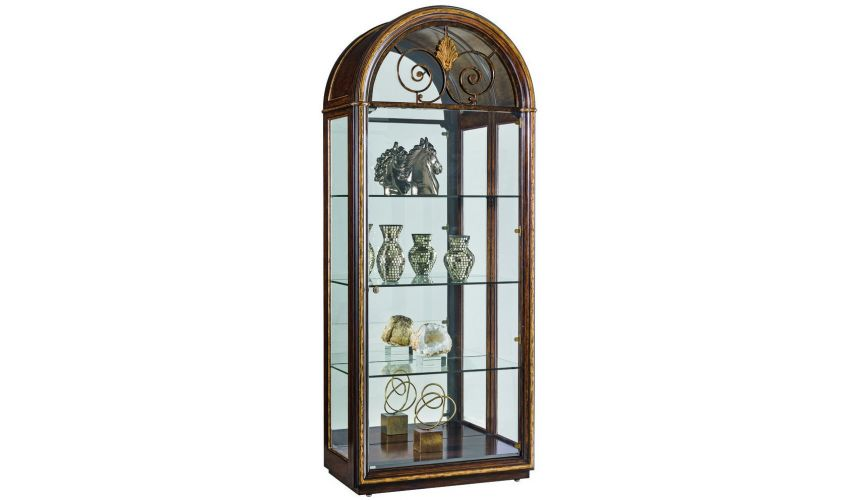 Display Cabinets and Armories Elegant traditional display cabinet