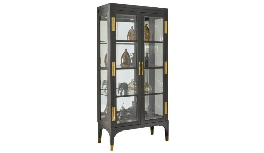 Display Cabinets and Armories Nicely detailed stylish glass cabinet