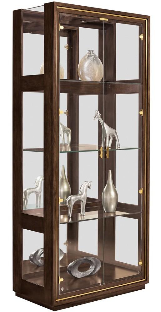 Urban Style Modern Glass Door Display Cabinet