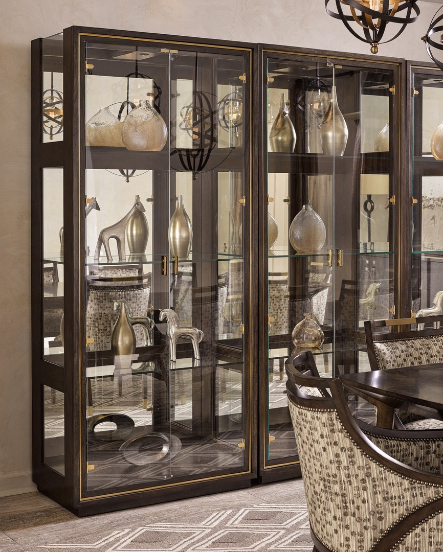 Urban Style Modern Glass Door Display Cabinet