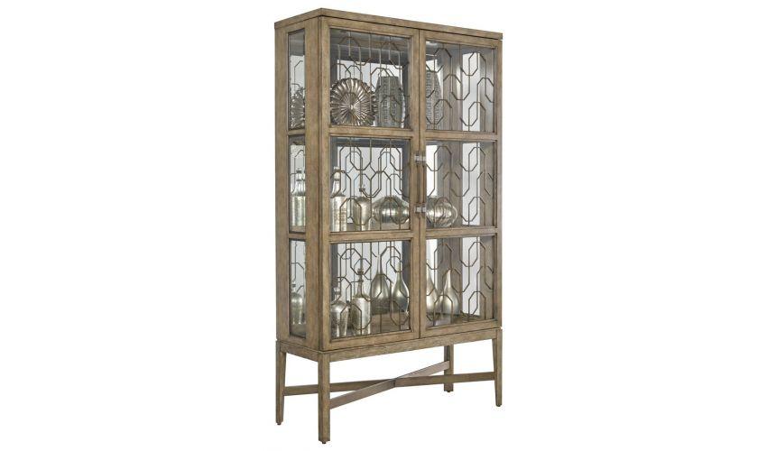 Display Cabinets and Armories Modern styling for this display cabinet in quarter sawn oak