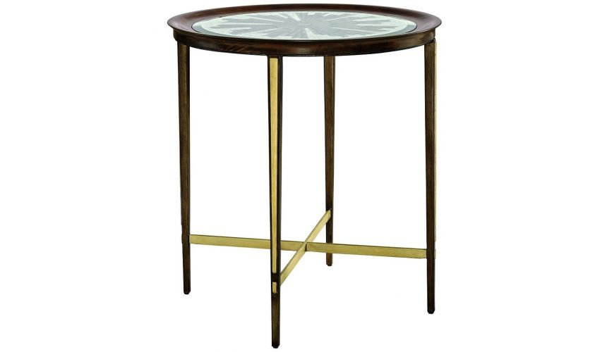 TABLES - SIDE, LAMP & BEDSIDE Glass top side table from our modern Dakota collection