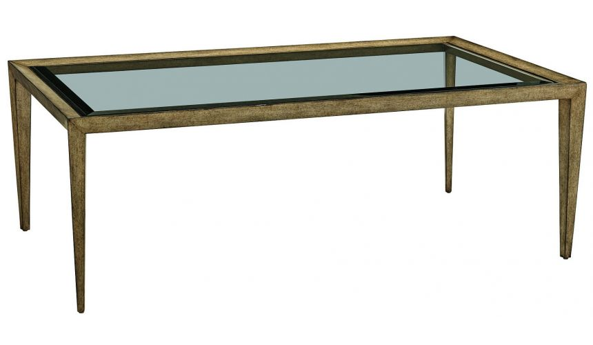 Coffee Tables Long glass coffee table from our modern Dakota collection