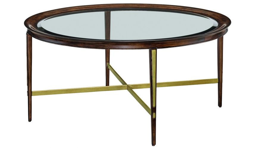 Round and Oval Coffee tables Round glass coffee table from our modern Dakota collection