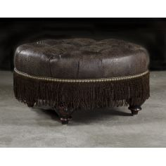 High Quality Furnishings, Leather Ottoman