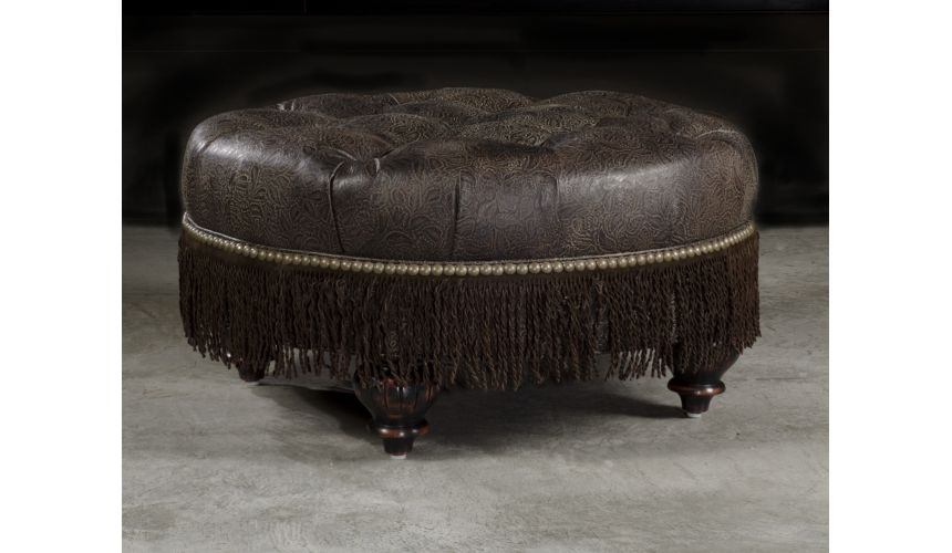 Luxury Leather & Upholstered Furniture High Quality Furnishings, Leather Ottoman