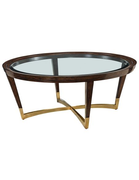 Coffee Tables Perfectly modern oval coffee table