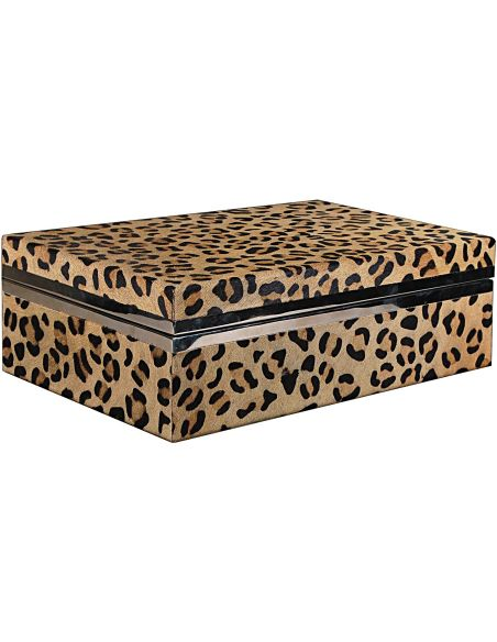 Decorative Accessories Leopard Patterned Accessory Box