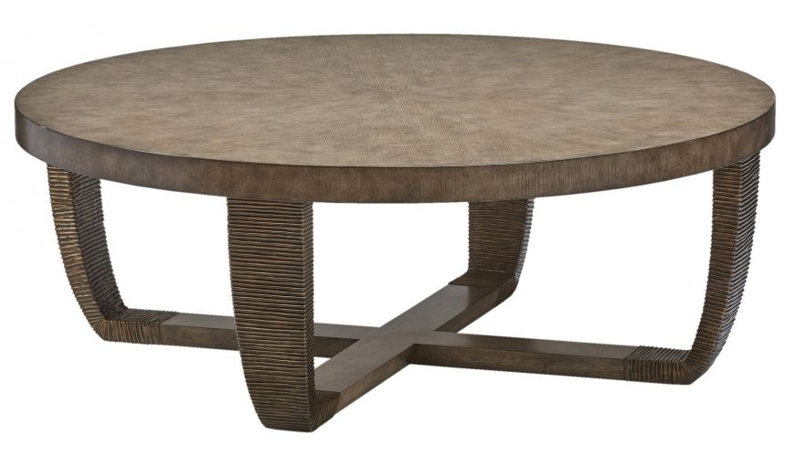 Round and Oval Coffee tables Round wooden coffee table from our modern Dakota collection