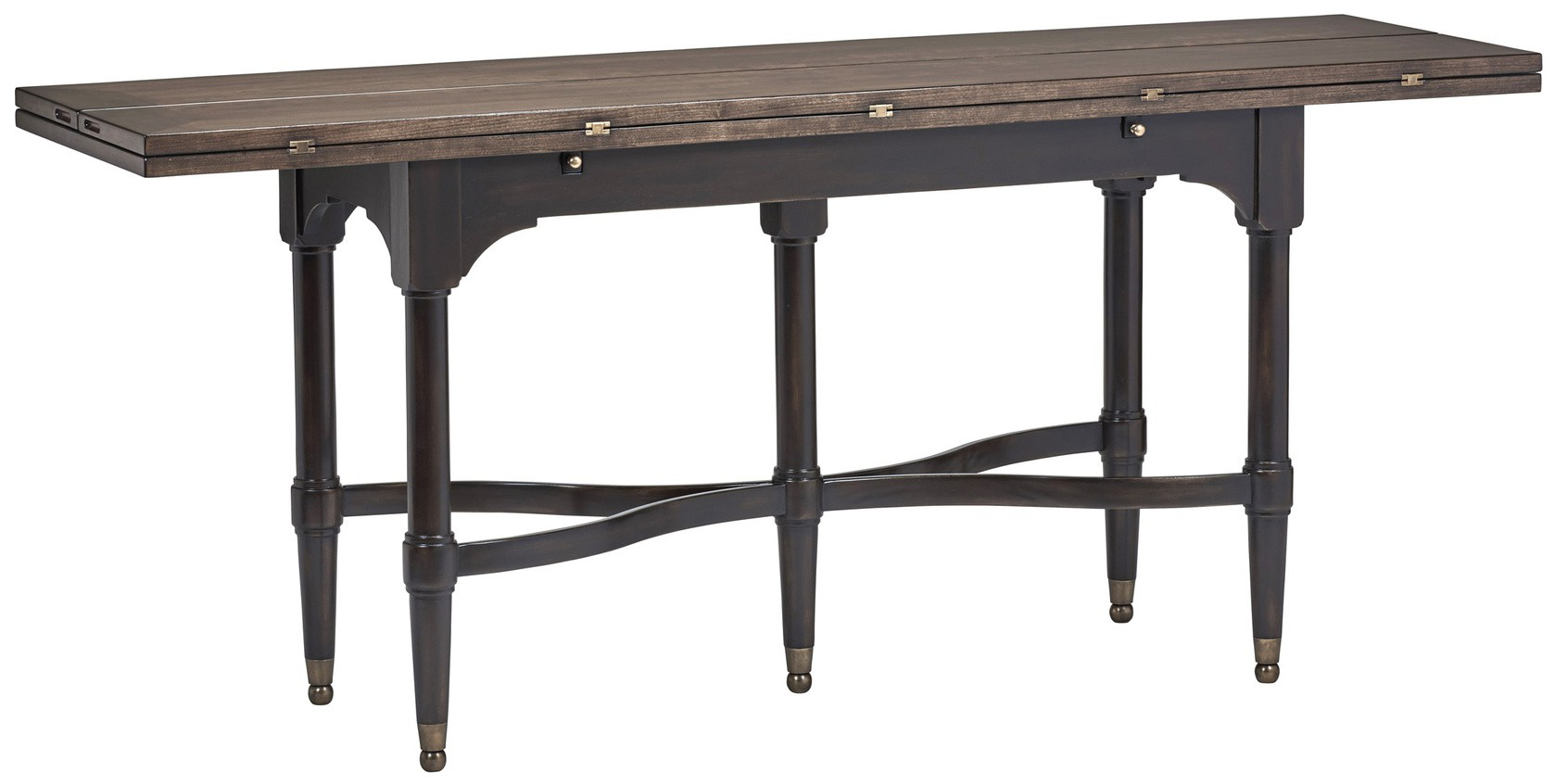 Country flip out top console to dining table for Sofa table restaurant