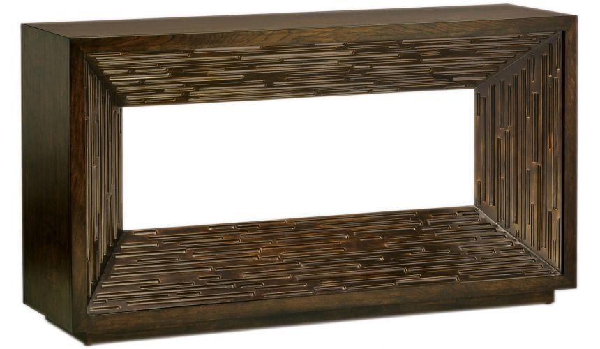 Console & Sofa Tables Warm and welcoming urban style modern console table