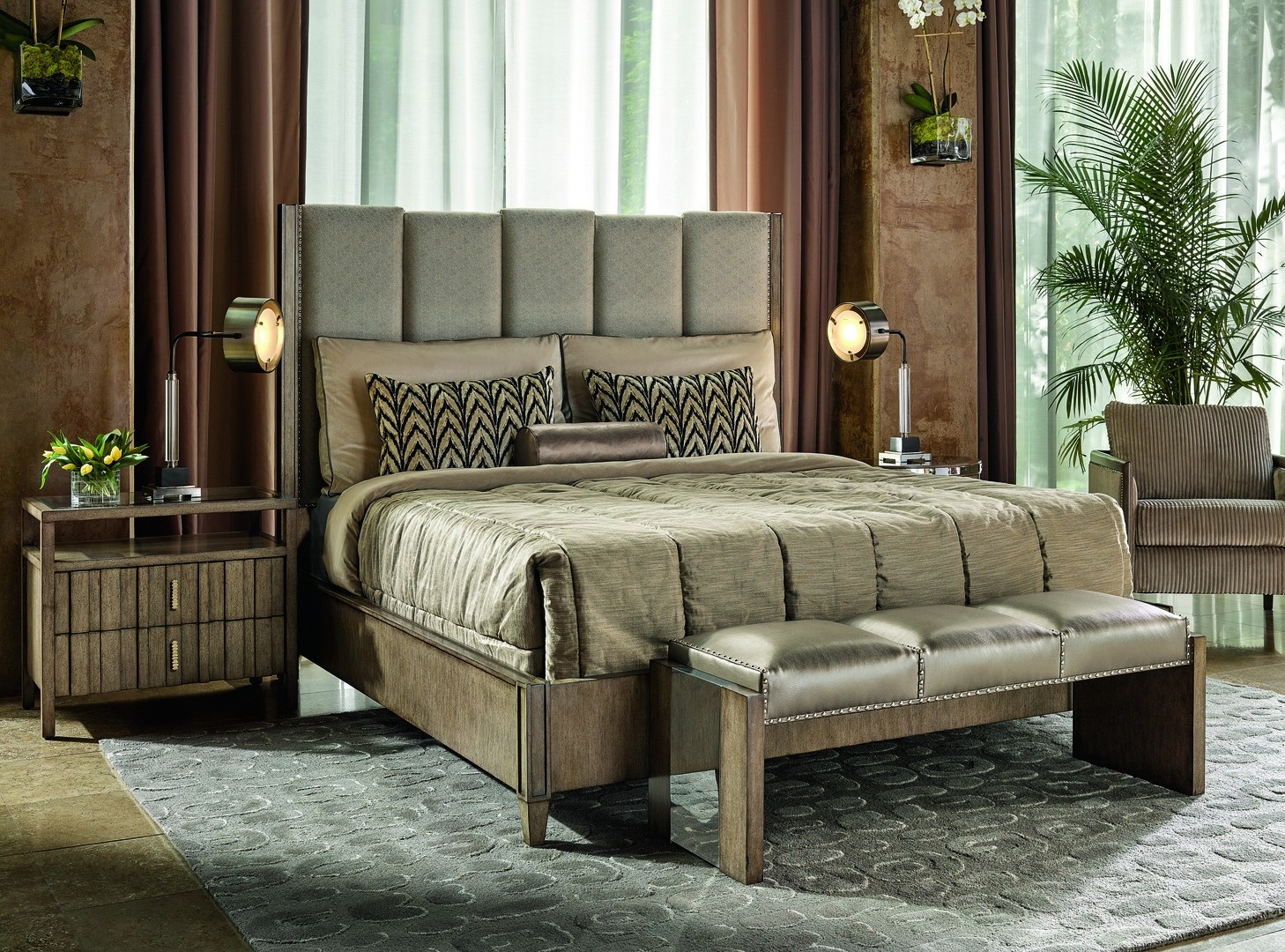 High End Rustic Bench From Our Modern Dakota Collection Dha40