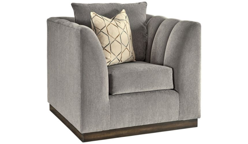 CHAIRS, Leather, Upholstered, Accent Chic and Soft Luxurious Accent Chair from our modern Dakota collection DC0416