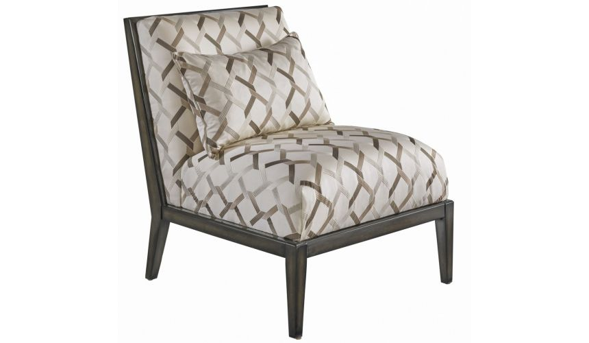CHAIRS, Leather, Upholstered, Accent Contemporary Diamond Themed Accent Chair from our modern Dakota collection