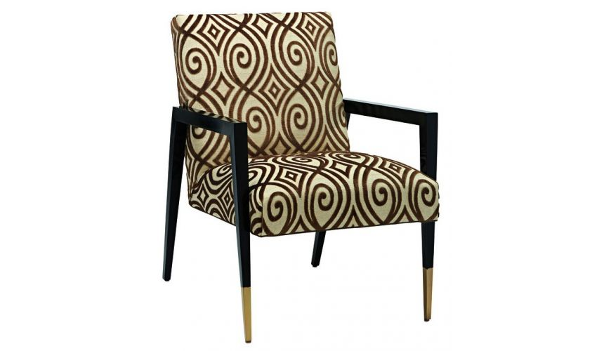 CHAIRS, Leather, Upholstered, Accent High End Accent Chair from our modern Dakota collection DPA41