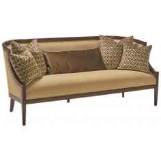 Wood frame transitional luxury sofa and living room set