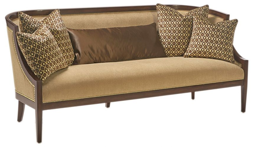SOFA, COUCH & LOVESEAT Wood frame transitional luxury sofa and living room set
